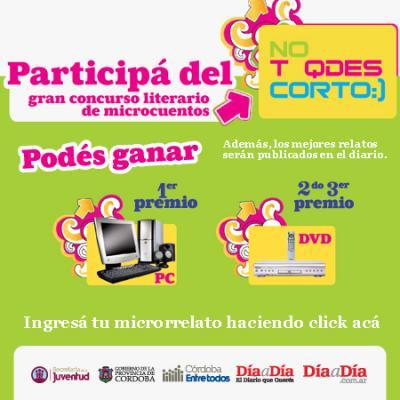 """""""No t quedes corto"""" : I Concurso Provincial de Microrrelato a través de sms y vía e-mail denominado"""
